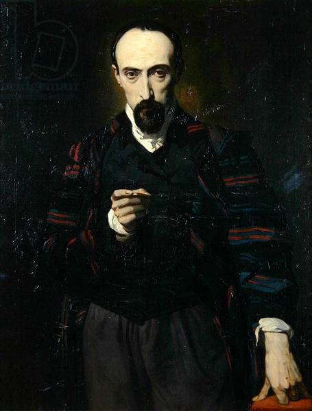 Portrait of Achille Deveria (1800-57) (oil on canvas)