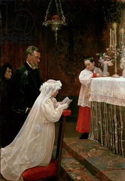 First Communion, 1896 (oil on canvas)