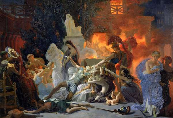 The Death of Priam, c.1817 (oil on canvas)