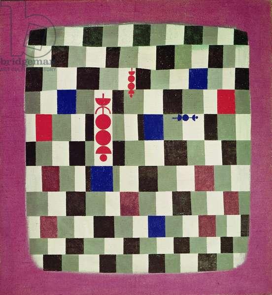 Super Chess, 1937 (no 141) (oil on burlap)
