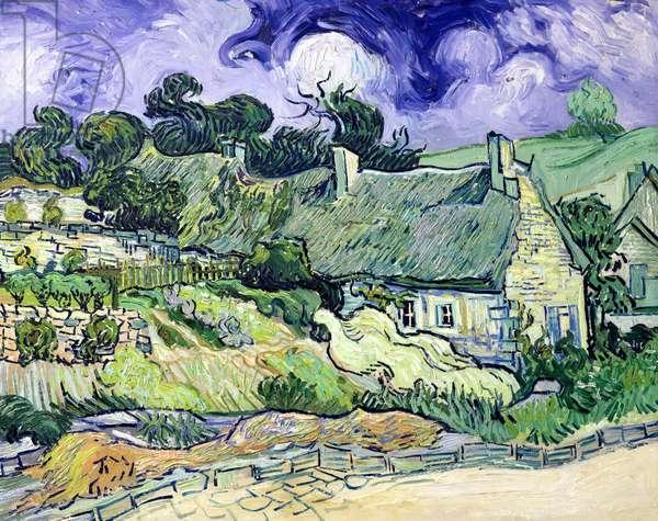 Thatched cottages at Cordeville, Auvers-sur-Oise, 1890 (oil on canvas)