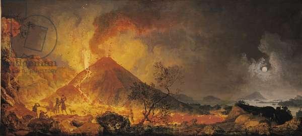 The Eruption of Vesuvius (oil on canvas)
