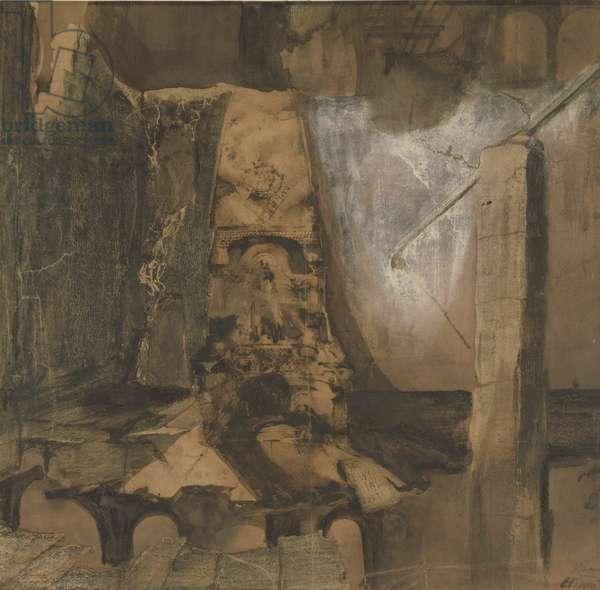 'Hic Clavis, Alias Porta', Ruins (pen & ink wash and gouache on paper)