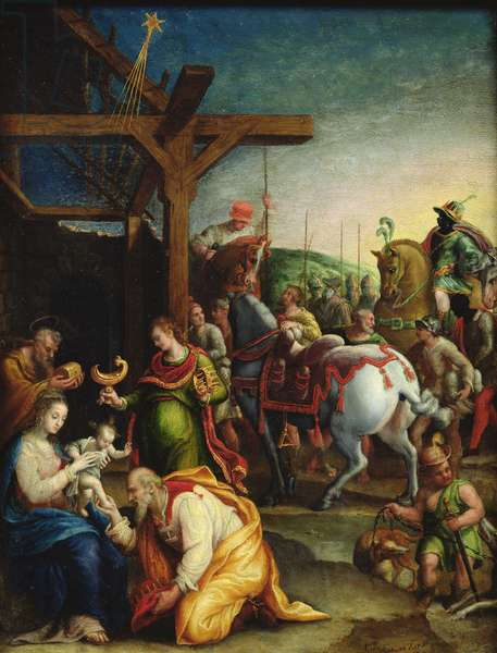 The Adoration of the Magi, late 16th century (oil on copper)