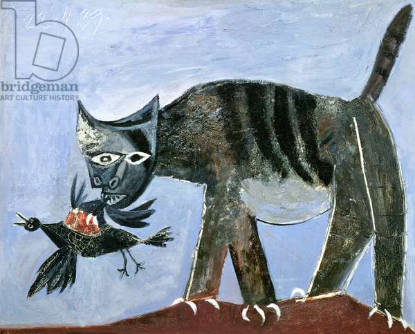 Cat with a Bird in its Jaws, 1939 (oil on canvas)