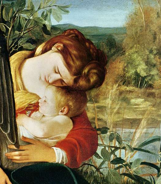 Rest on the Flight into Egypt, c.1603 (oil on canvas) (detail)
