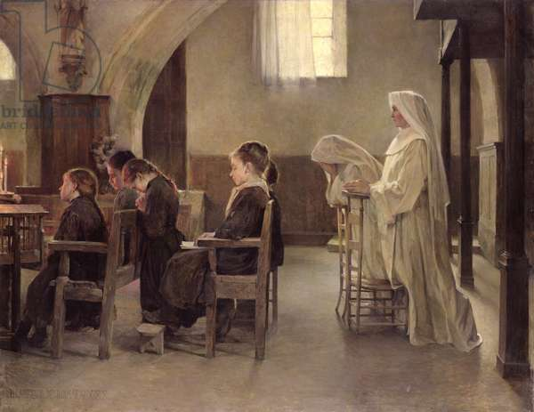 The Eve of the First Communion, before 1890 (oil on canvas)