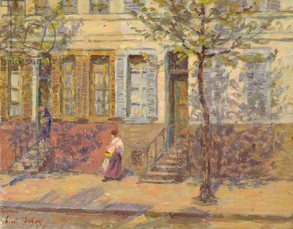 Street Scene, 1912 (oil on panel)