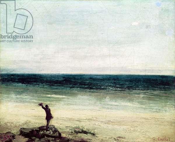 The Artist on the Seashore at Palavas (oil on canvas)