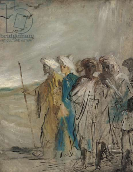 Group of Arabs or, Joseph Sold by his Brothers (oil on canvas)