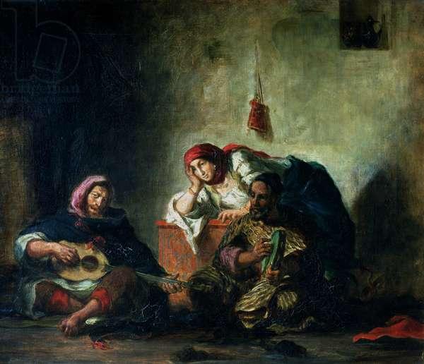 Jewish Musicians in Mogador, 1847 (oil on canvas)