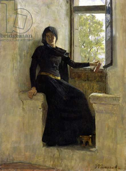 Waiting, before 1905 (oil on canvas)