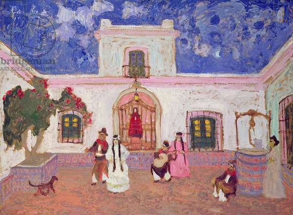 Creole Dance, before 1927 (oil on card)