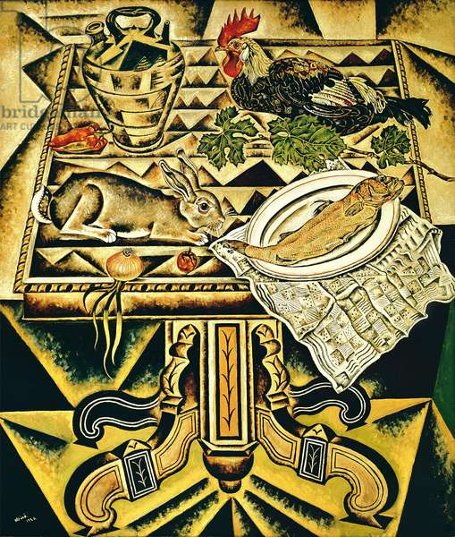The Table (Still Life with Rabbit), 1920 (oil on canvas)