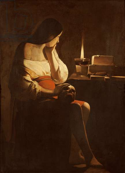 Mary Magdalene with a night light, c.1640-35 (oil on canvas)