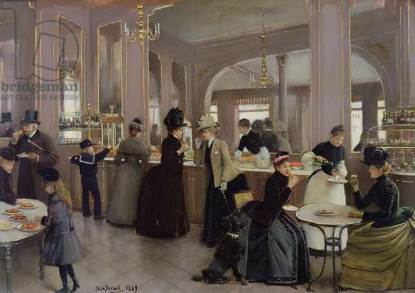 La Patisserie Gloppe, Champs Elysees, Paris, 1889 (oil on canvas)