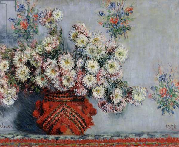 Chrysanthemums, 1878 (oil on canvas)