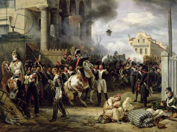 The Gate at Clichy during the Defence of Paris, 30th March 1814, 1820 (oil on canvas)