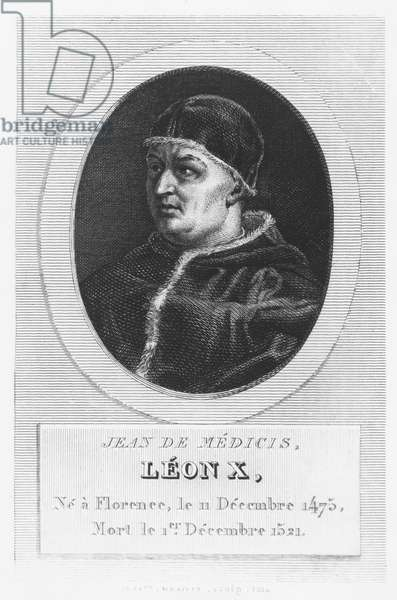 Pope Leo X, Giovanni di Lorenzo de Medici (engraving)