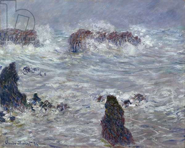 Storm, off the Coast of Belle-Ile, 1886 (oil on canvas)