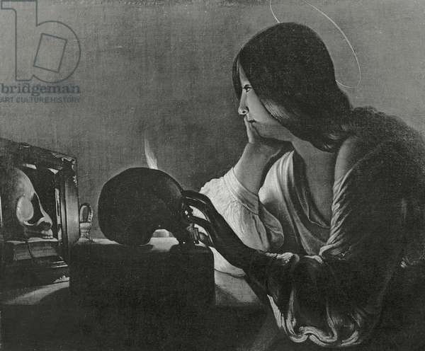 The Magdalene with the Mirror (b/w photo)