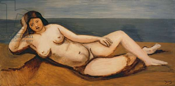 Large reclining nude, c.1926-27 (oil on canvas) (also see 287579)