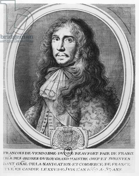 François de Bourbon, Duc de Beaufort (engraving)