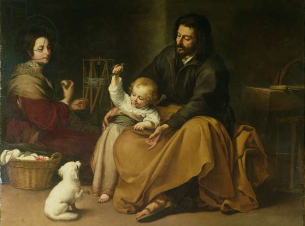 The Holy Family with the Little Bird, c.1650 (oil on canvas)