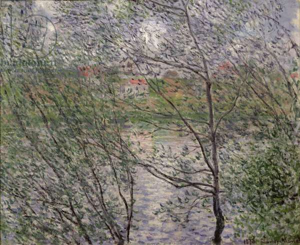 The Banks of the Seine or, Spring through the Trees, 1878 (oil on canvas)
