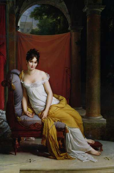 Portrait of Madame Recamier (1777-1849) (oil on canvas)