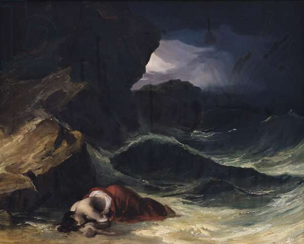 The Storm, or The Shipwreck (oil on canvas)