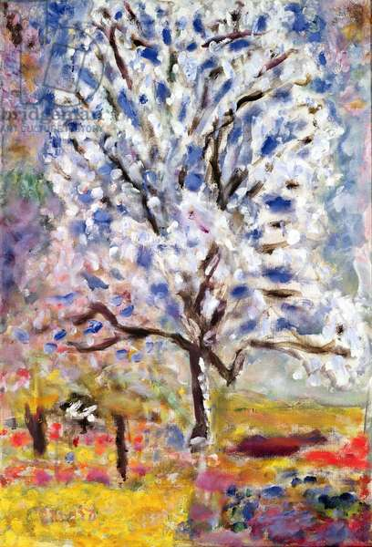 The Almond Tree in Blossom, 1947 (oil on canvas)