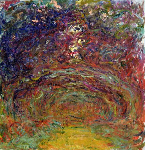 The Rose Path at Giverny, 1920-22 (oil on canvas)
