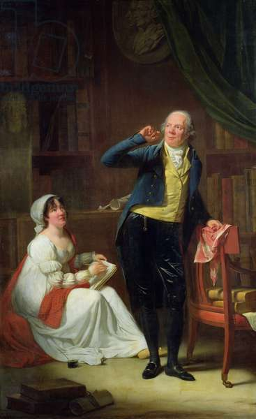 Jacques Delille (1738-1813) and his Wife, 1802 (oil on canvas)