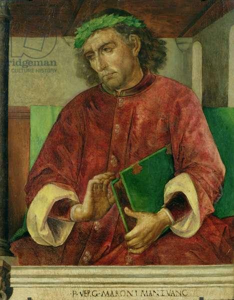 Portrait of Virgil (70-19 BC), c.1475 (oil on panel)