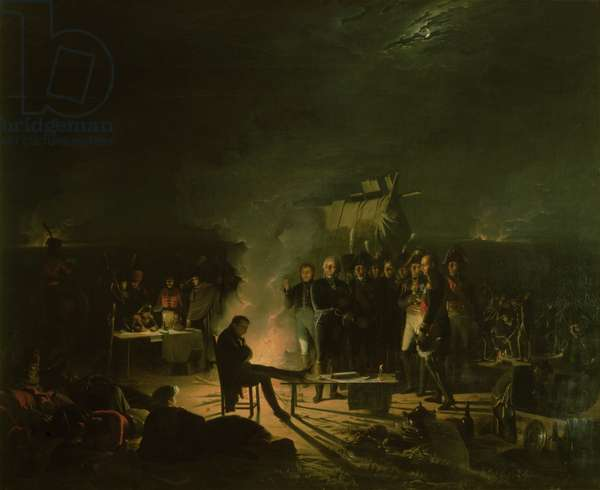 Bivouac of Napoleon I (1769-1821) on the Battlefield of the Battle of Wagram, 5th-6th July 1809, 1810 (oil on canvas)