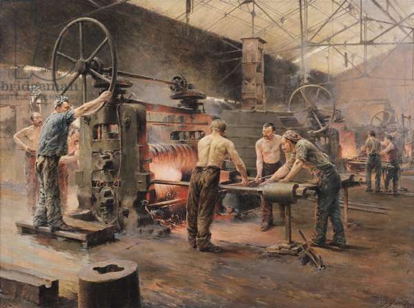 The Rolling Mill (oil on canvas)
