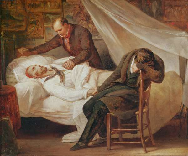 The Death of Theodore Géricault, with his friends Colonel Bro de Comeres and the painter Pierre-Joseph Dedreux-Dorcy, 1824 (oil on canvas)
