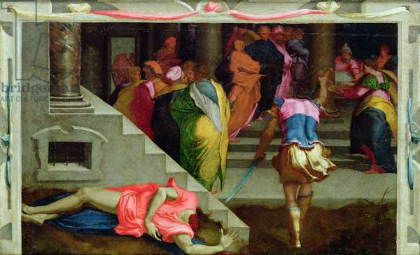 Martyrdom of St. John the Baptist, c.1530-40 (oil on canvas)