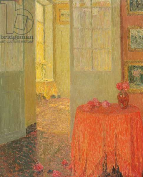 The Red Table Cloth, Versailles, c.1931 (oil on canvas)