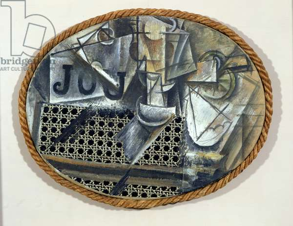 Still Life with a Caned Chair, 1912 (mixed media)