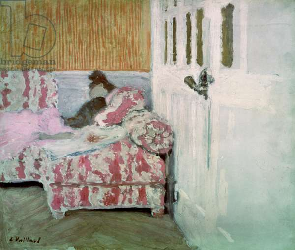 On the Sofa, or The White Room, c.1890-93 (oil on cardboard)
