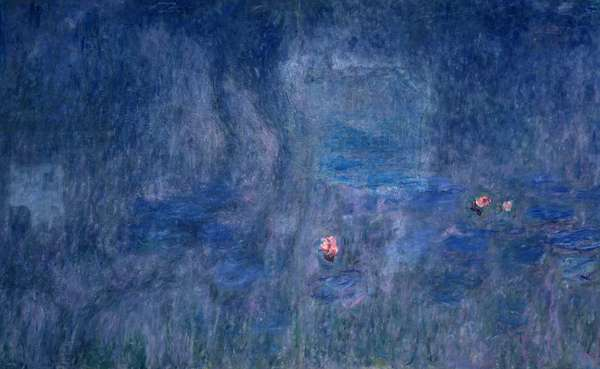 Waterlilies: Reflections of Trees, detail from the central section, 1915-26 (oil on canvas)