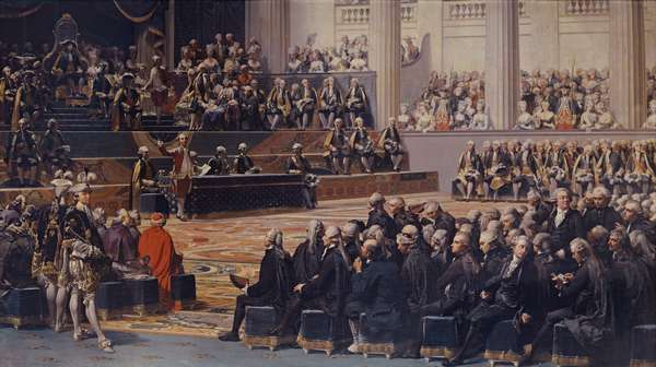 Opening of the Estates General at Versailles on 5th May 1789, 1839 (oil on canvas)