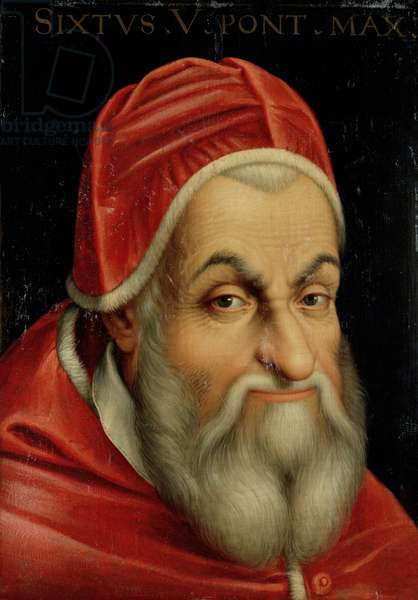 Pope Sixtus V (1520-90) (oil on canvas)
