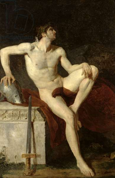 Seated Gladiator (oil on canvas)
