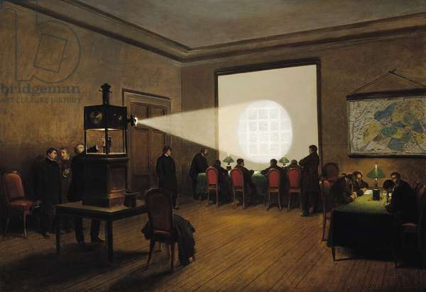 Transmission of Telegraphs at the Central Telegraph Office, November 1870 (oil on canvas)