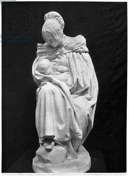 Boulonnaise Woman Feeding her Child (plaster) (see also 217913) (b/w photo)