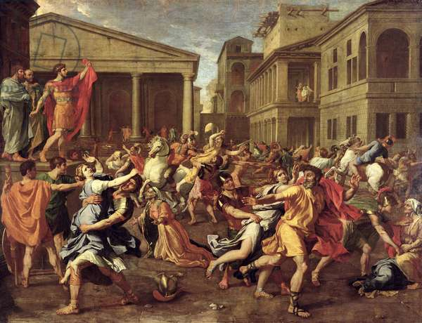 The Rape of the Sabines, c.1637-38 (oil on canvas)
