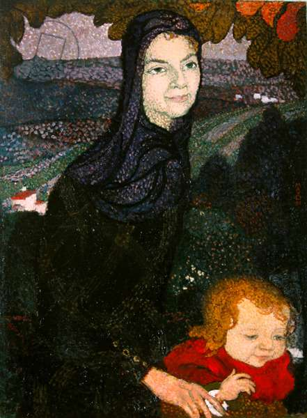 Mother and child, 1891 (oil on canvas)